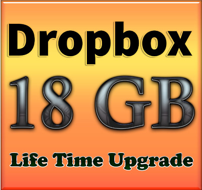 Dropbox 18GB lifetime upgrade - Referral Service