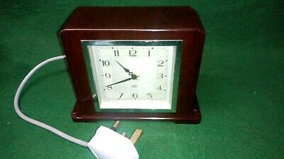 Vintage Smiths Sectric Art Deco Bakelite Mantle Clock