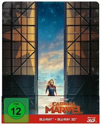 Captain Marvel - Blu-ray 3D + 2D / Steelbook # 2-BLU-RAY-NEU