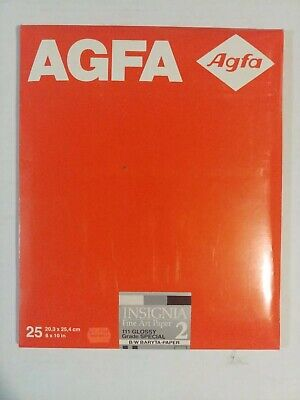 AGFA Insignia FA 2 B&W 111Glossy 25ct 8x10 Grade: special NOS Sealed pack