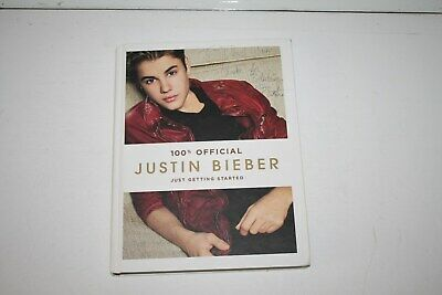"Autographed Justin Bieber Book""Just Getting Started""2012 Signing"