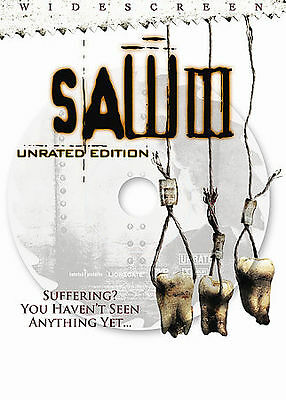 Saw III (DVD, 2007, Unrated Widescreen) Saw 3