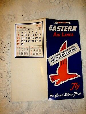 Eastern Air Lines Timetable 1947