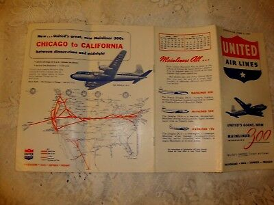 United Air Lines Timetable 1947
