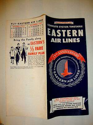 Eastern Air Lines Timetable 1957