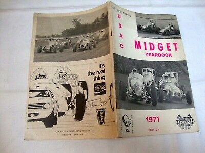 Programme Usac Midget Yearbook United States Auto Club 1971