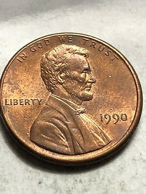 1990 AU  Lincoln Memorial Cent Penny Nice Coin Slightly Toned Lot E27