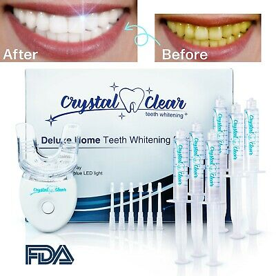 OPALESCENCE comparable Teeth Whitening Gel 6 syringes + LED by Crystal Clear USA