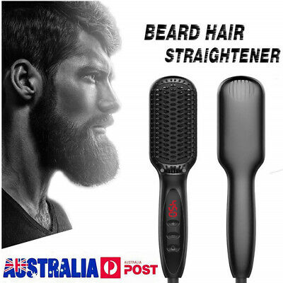 Quick Beard Straightener Multifunctional Hair Comb Curling Curler For Man + Disp