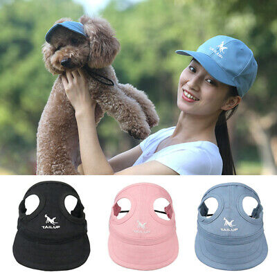 Lovely Pet Dog Hat Summer Baseball Dog Sun Hat Cap With Ear Holes Hot