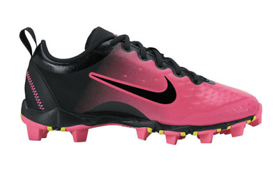 59380f31d Nike Hyperdiamond 2 Keystone Girls Softball Cleats Pink Blast 856435 Size  3Y NEW