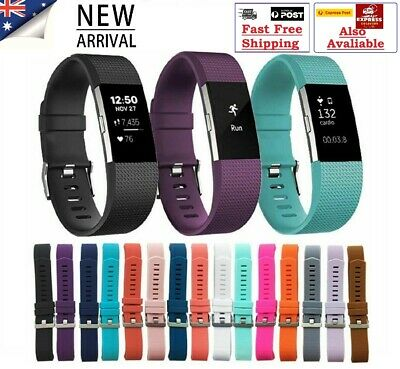 Fitbit Charge 2 Replacement Band Secure Strap *AU* Wristband Metal Buckle HR