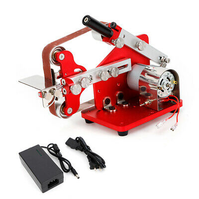 100V DIY Micro Belt Machine Electric Mini Polish Machine Bench Sander MillING US