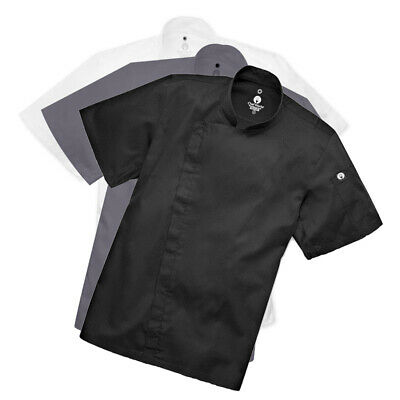 Chef Coat Jacket Chefworks Springfield Zipper Short Sleeve