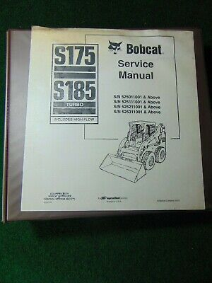 BOBCAT S185 TURBO High Flow Skid Steer Loader Owner Operator
