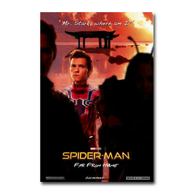 Far From Home Movie Mysterio Jake Gyllenhaal Silk Poster 12x18 24x36 Spider-Man