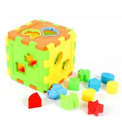 New Baby Kids Toys Cognitive Six-Side Congested Geometric Shape Assembled Toy