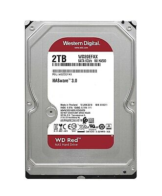 "Western Digital WD Red 2TB HDD 3.5"" SATA 5400RPM 64MB Internal Hard Drive NAS"