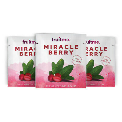 Fruit Me Miracle Fruit Berries Singles x3 | Turns Sour Into Sweet *MIND BLOWING*