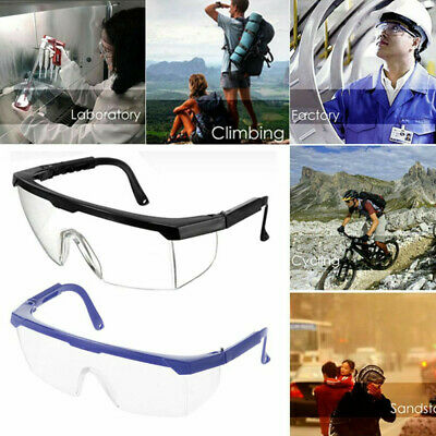 Eye Protective Anti-impact Lab Factory Glasses Safety Outdoor Work Goggles Clear