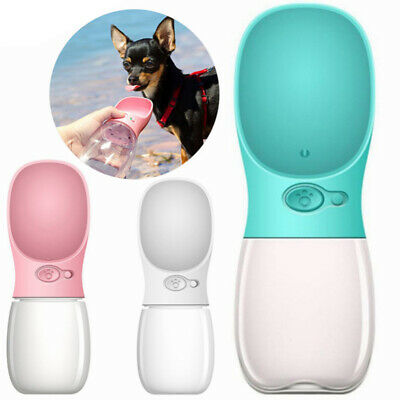 UK Portable Puppy Dog Cat Pet Water Bottle Drinking Cup Outdoor Travel Feeder