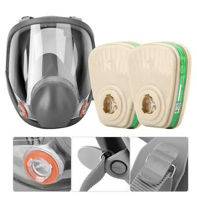 Respirator Mask Kit Silicone Spherical Full Face Respirator Gas Mask Protective