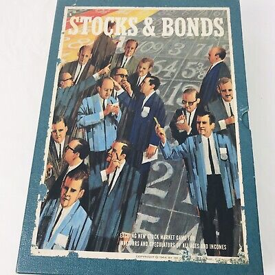 Vintage 1964 3M Stocks and Bonds Bookshelf Board Game Good Condition - Complete