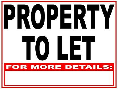 2 x Property TO LET Boards 610 x 460mm House Flat Apartment  for Rent