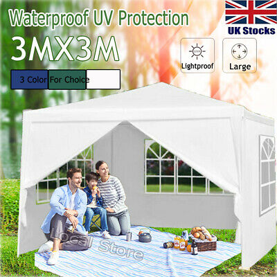 3Mx3M Party Tent Outdoor PE Garden Events Gazebo Marquee Canopy Awning Sandbag