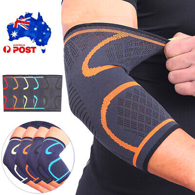 Elbow Compression Sleeves Arm Support Pad for Tennis Golfer Tendonitis Arthritis