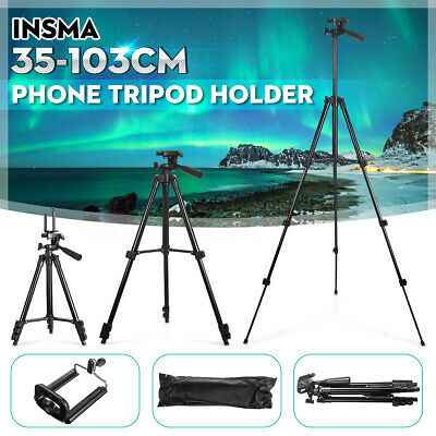 ☆ Stretchable Camera Tripod Stand Mount Holder for iPhone Samsung Phone + Bag UK