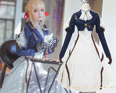 Violet Evergarden Cosplay Auto Memory Doll Uniform Suit Anime Outfit Costume New