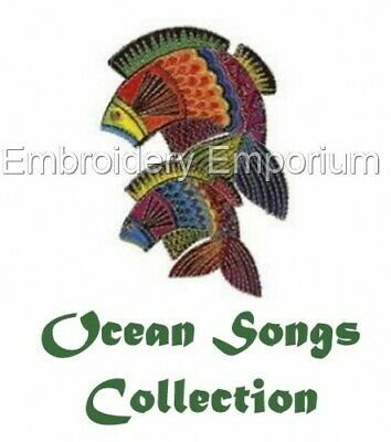 Ocean Songs Collection - Machine Embroidery Designs On Cd Or Usb