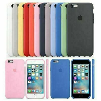 Case for Apple iPhone X 8 7 6s 6 Plus Original Genuine Hard Silicone Cover Slim