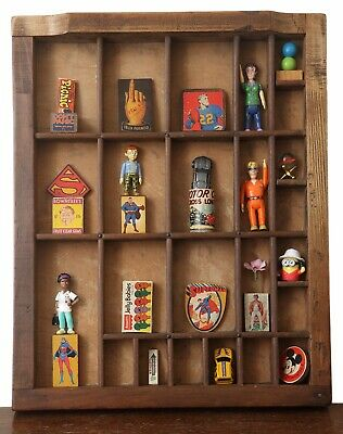 Great Quirky Colourful 3D Wall Art  in Vintage Letterpress Printers Tray Drawer