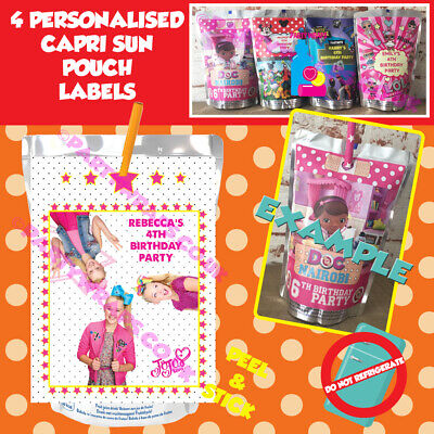 aa94e1673 Personalised JoJo Siwa Capri Sun Birthday Party Juice Pouch Drink Labels
