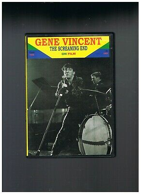 "Dvd  Gene Vincent "" The Screaming End On Film "" Ttbe"