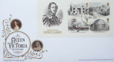 GB 2019 FDC Queen Victoria Bicentenary Mini Sheet Buckingham Palace CDS