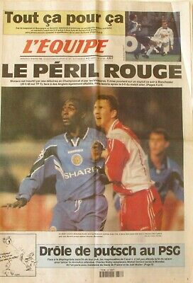 Journal L'Equipe n°16130 - 1998 - Guivarc'h - Barthez - Andy Cole - JM Gambill