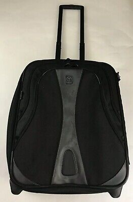 """Tumi T-Tech Expandable 2 Wheeled 21"""" Carry On Suitcase Rolling Canvas Black"""