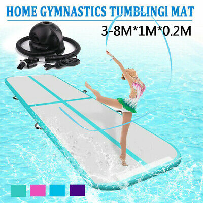 3-8m 20cm Airtrack Inflatable Air Track Floor Gymnastics Tumbling Mat GYM w/Pump