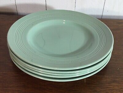 Vintage Side Plates, Wood's Ware Beryl, Green x 5