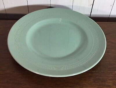 Vintage Dinner Plate, Woods Ware, Beryl Green, Chipped At Back