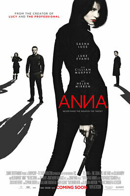 Luc Besson's ANNA (2019) D/S Orig Movie Poster 2-Sided 27x40 Sasha Luss Lucy NEW