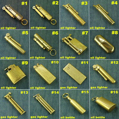 Solid Brass Collectible Vintage oil / gas Lighter Cigarette Lighters Oil Bottle
