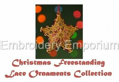 Christmas Freestanding Lace Ornaments - Machine Embroidery Designs On Cd Or Usb
