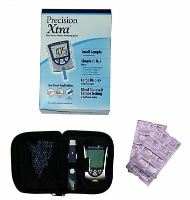 Precision Xtra Blood Ketone Testing Kit ~ Monitoring ~ Meter with Test Stripes