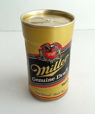Dancing Miller Draft Beer Can Robotic Sound Activated TAKARA Vintage Brewery