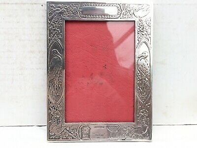 Lovely Antique/Vintage Sterling Silver Photograph Frame - Christening, New Baby