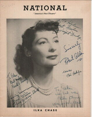 ILKA CHASE Autograph, There Goes The Bride 1948, Robert Alda + 4 more Autographs